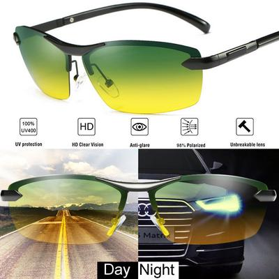 Black Mens Polarized Sunglasses Driving Night Vision Anti-glare Aviator SunGlasses