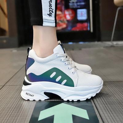 a549c677e Туфли новые моды спорта работает на толстой подошве студентов увеличение  сетки женщин обувь