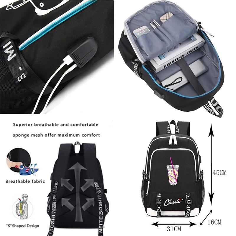 Casual School Backpack Halloween Pattern Print Laptop Rucksack Multi-Functional Daypack Book Satchel