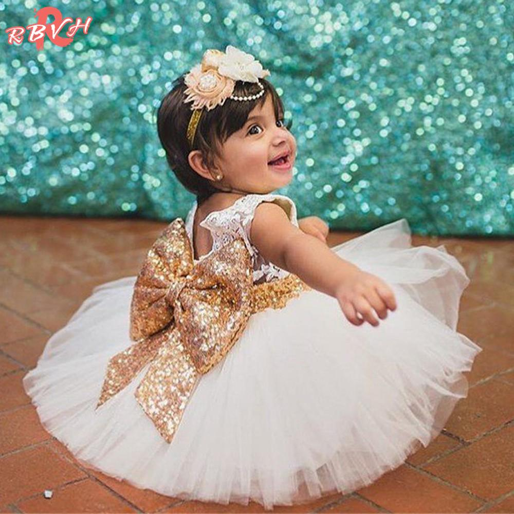 Toddler Baby Girl Princess Bow Dress Wedding Party Pageant Tulle Dress Clothing