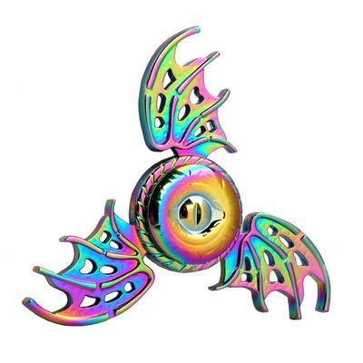 Rainbow Evil-Eye Bat Tri-Hand Spinner EDC Fingertip Gyro Desk Toy Adults  Kids