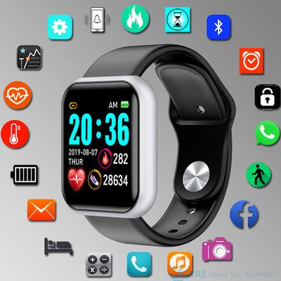 A smartwatch with a 1.3 inch screen, IP67 water protection and a step counter