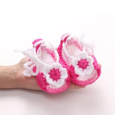 Baby девочки крючком обувь ручной работы вязание идеальный подарок