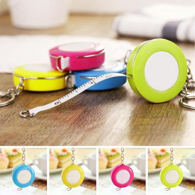 1.5m*7mm Candy Color Small Plastic Retractable Tape Measure Office School Supply