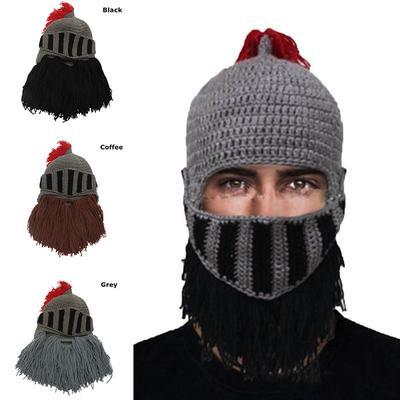 e8917bd69 Knitted Hat Red Tassel Roman Knight Ski Cap Beard Hats Beanie Masks ...