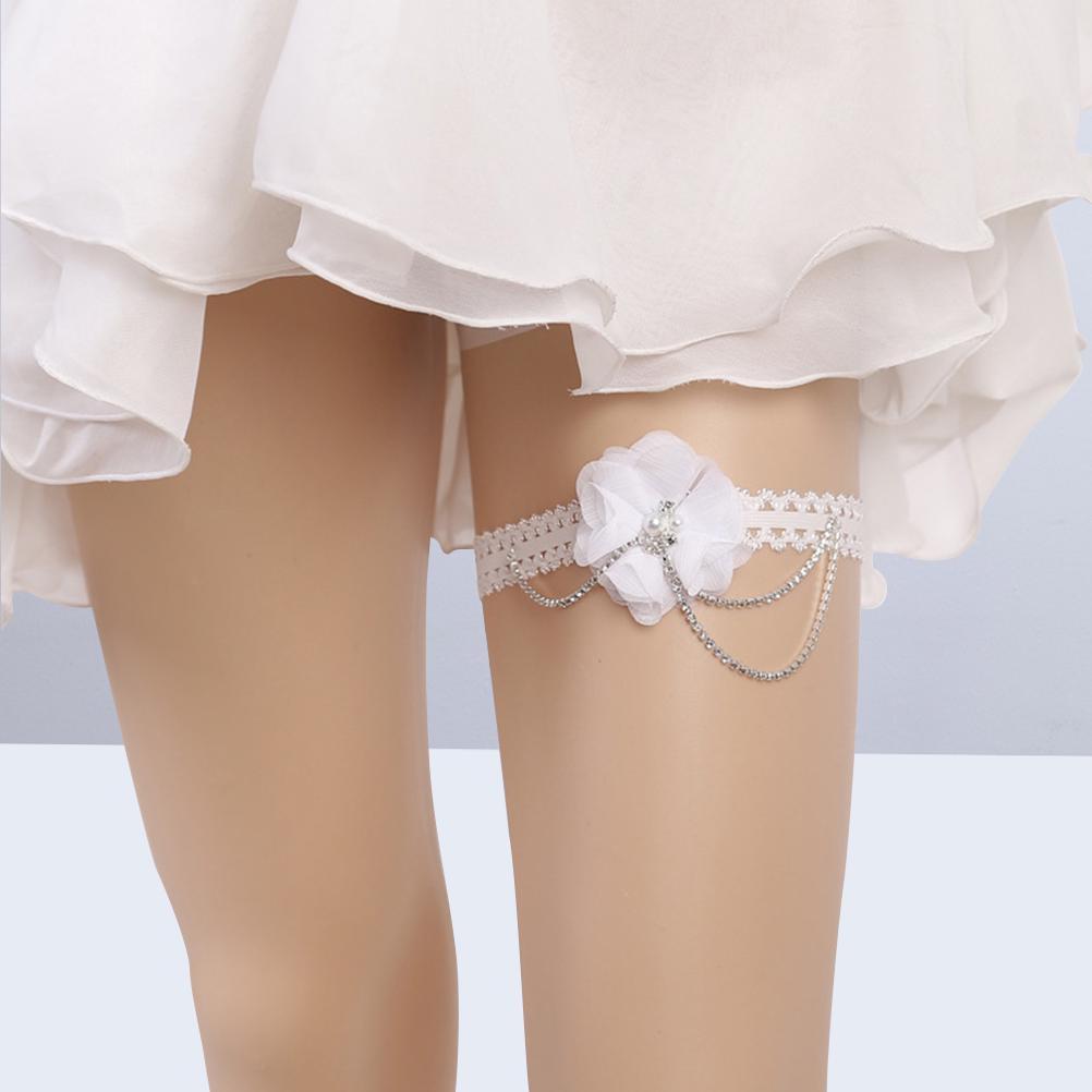 Hen/'s night Party White Bride to be Bridal leg lace Garter Suspender Belt Strap