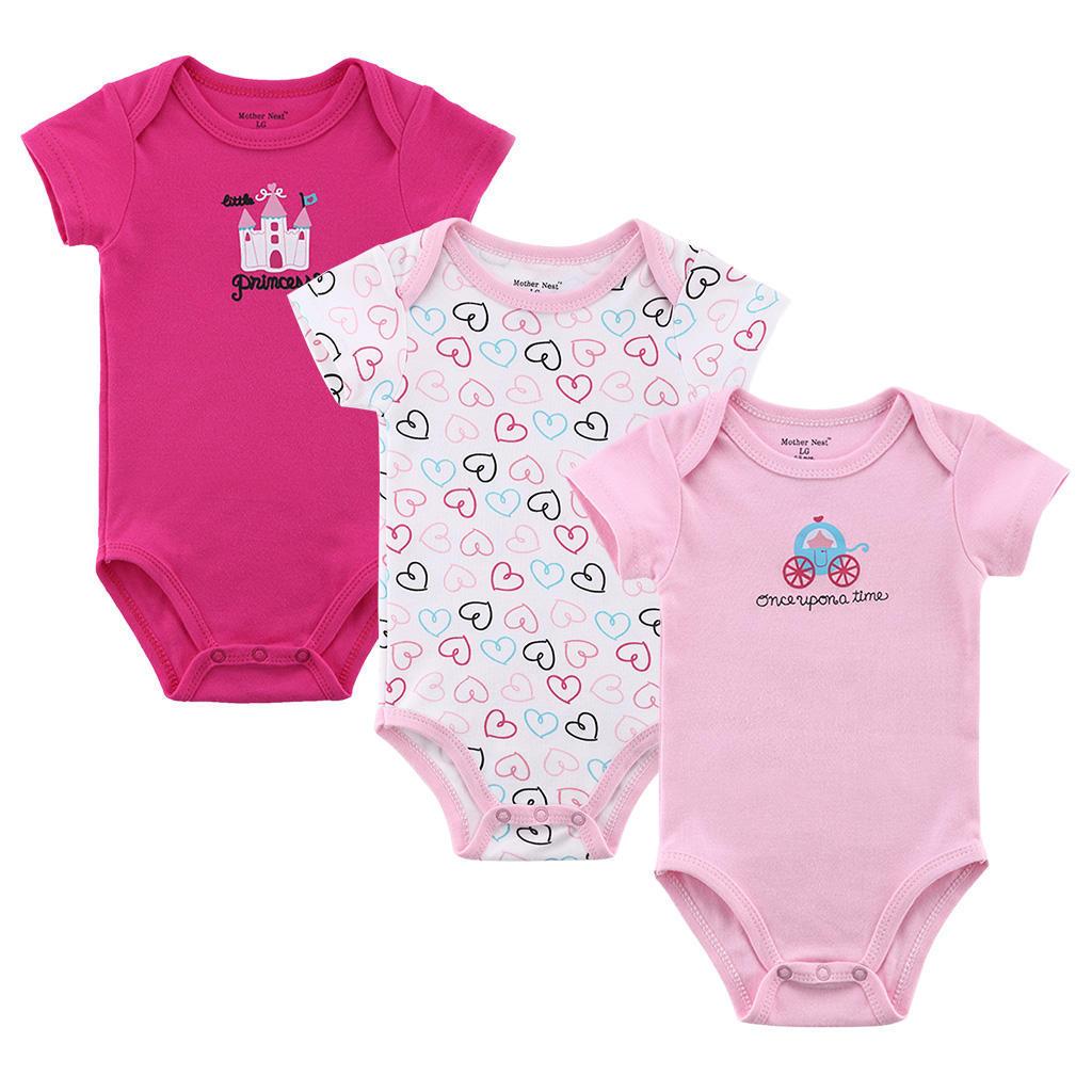3件套连体爬服纯棉0-1岁宝宝春夏套装
