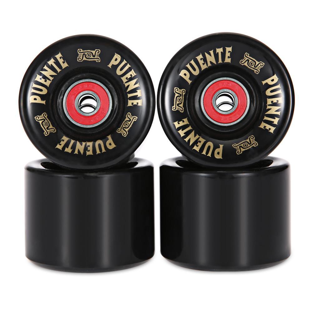 Silver//black Skateboard Holder Trucks 85A Wheels Bearings Set Replacement Parts