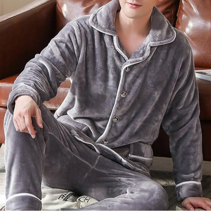 Details about  /Men Winter Warm Thermal Thick Flannel Fleece Sleepwear Trousers Pants Pajama