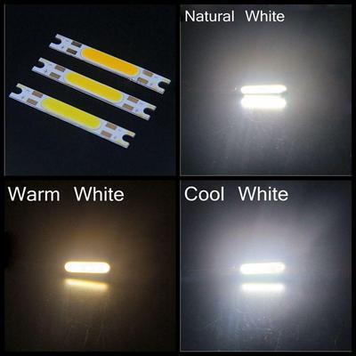Rectangle DC 12V 3W COB LED lamp light bulb Bead cool white for light car or diy