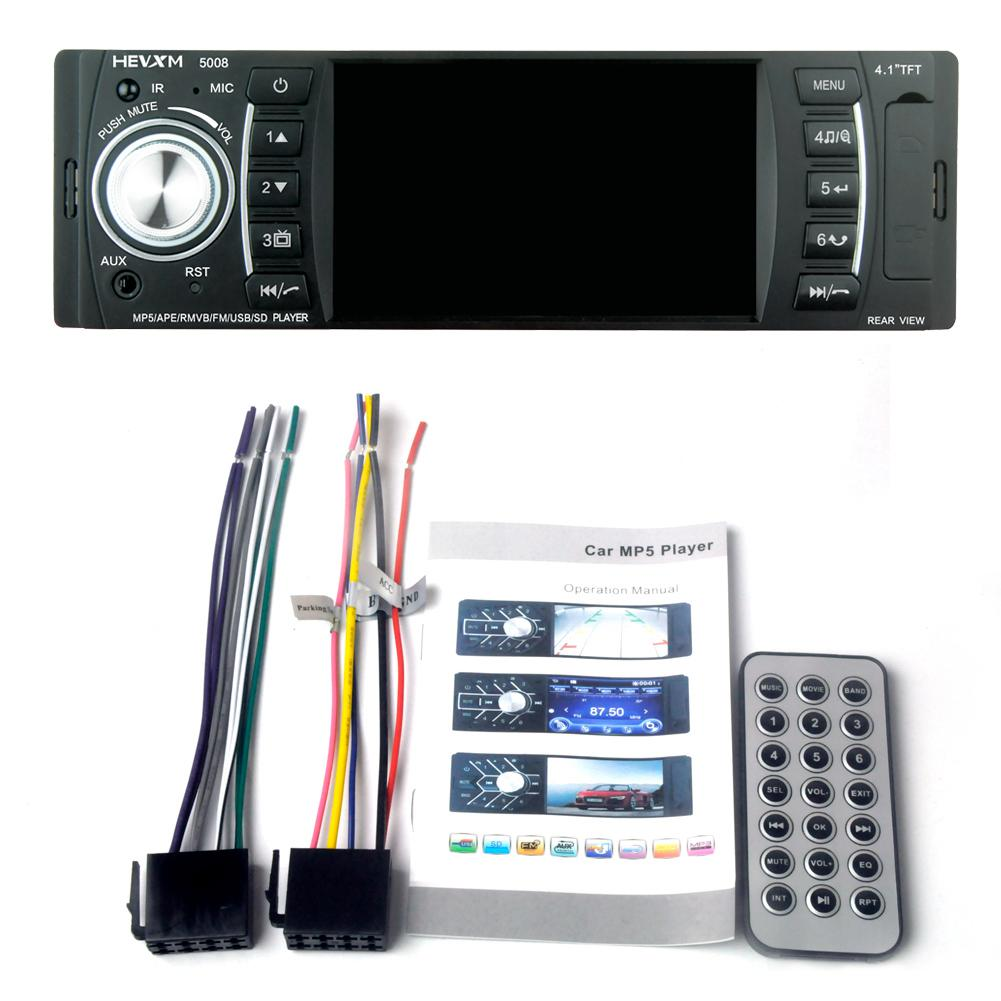 4.1in BT Car Audio Stereo FM MP5 Player Receiver USB SD AUX Input Hot