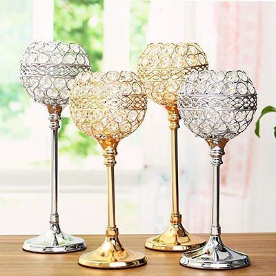 Crystal Tea Light Candle Holder Desktop Votive Candlestick Wedding Party Decor