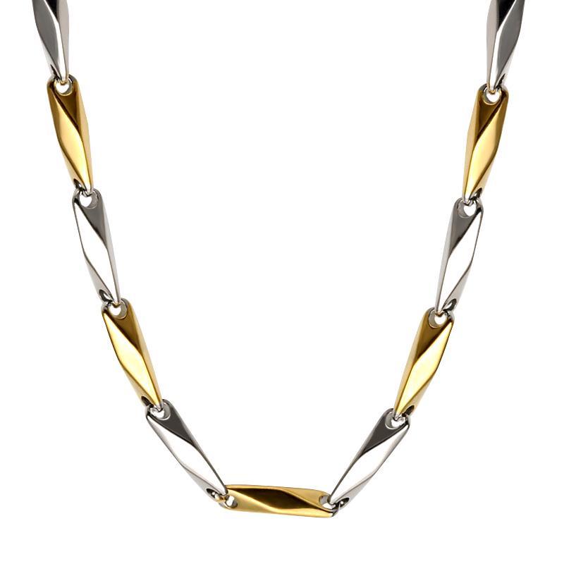 Edelstahl Link Kette Halsketten für Frauen Ehering Titan