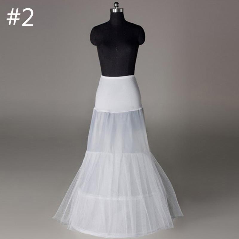 Enaguas de cola de pescado aro nupcial Petticoat señora capas falda ... c4bc085f5cf8