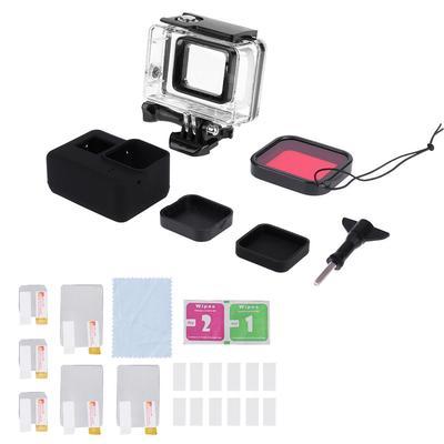 GoPro hero accesorios Impermeable Estuche de viaje 6 y 5 Kit de arranque