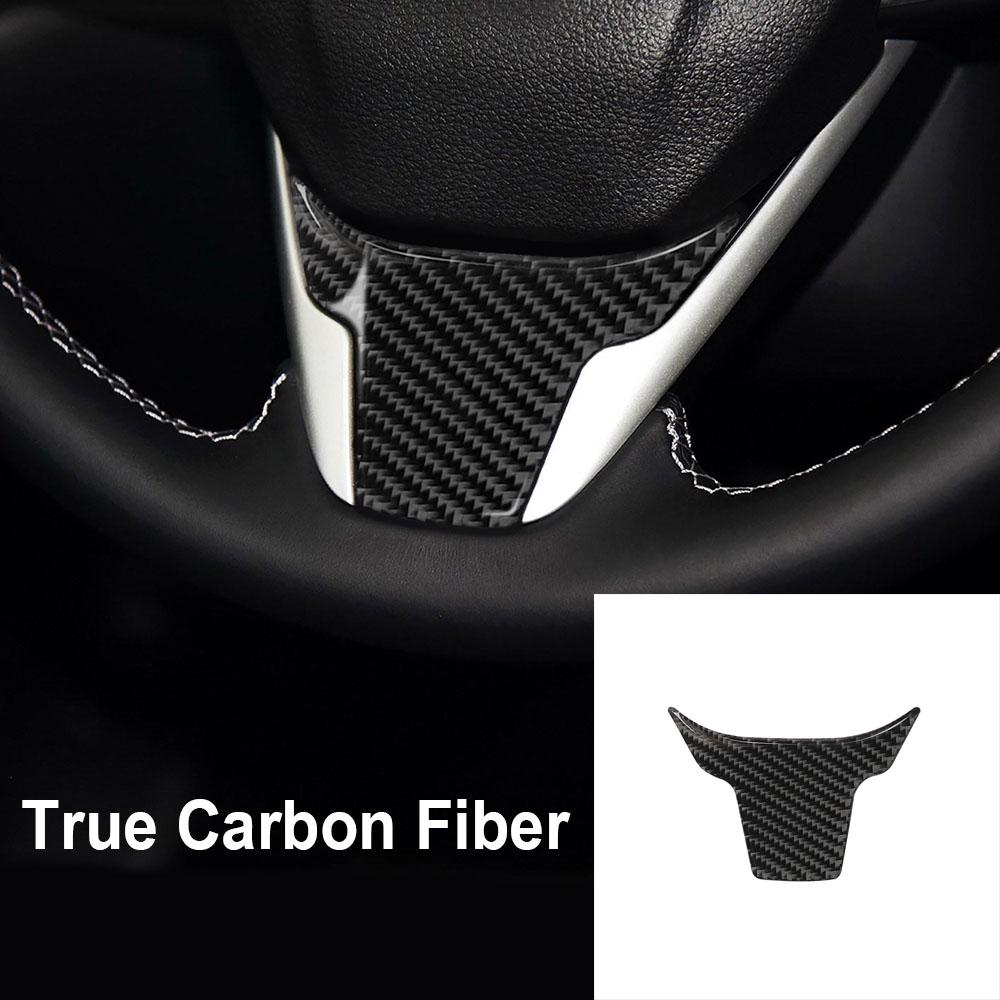 6Pcs Carbon Fiber Grain Console Center Dashboard Cover Trim Decorative Sticker For Honda 10th Gen Civic 2016 2017 2018 2019 2020