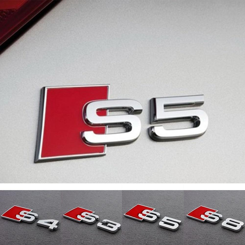 AUDI S3 Cromo Arranque Insignia Emblema Decal Sticker Logo A3 RS3 RS S Tapa Posterior Tronco