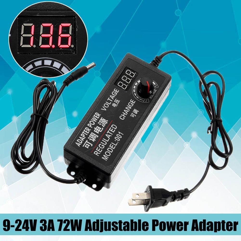 Adjustable Power Supply Adapter 1-24V//3-12V//9-24V//24-36V For LED Strip Light B5