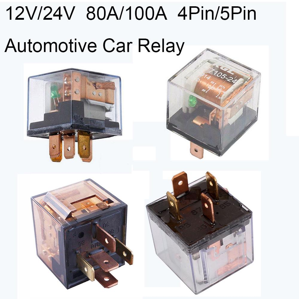 Waterproof Automotive Relay 24V 100A 5Pin SPDT Car Control Device Car Relays