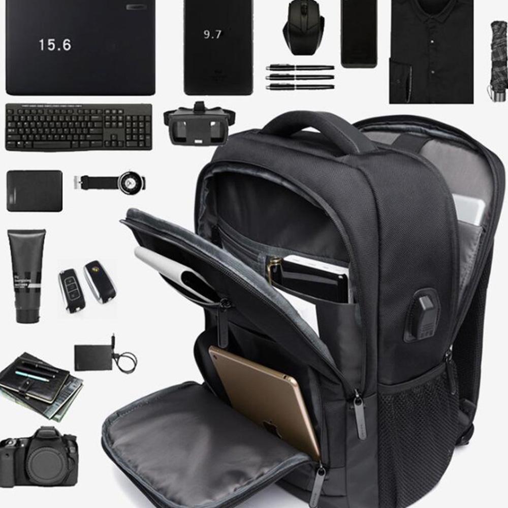 Твердый цвет Нейлон Мужчины Рюкзак Рюкзак Большой емкости ноутбук ноутбук Knapsack купить недорого — выгодные цены, бесплатная доставка, реальные отзывы с фото — Joom
