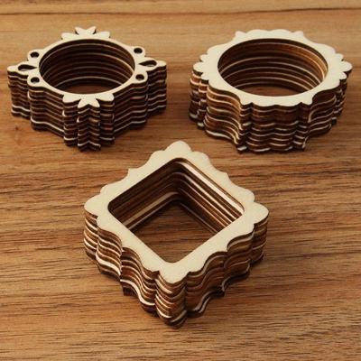 10штнабор незавершенной Diy ремесел карты декор деревянные