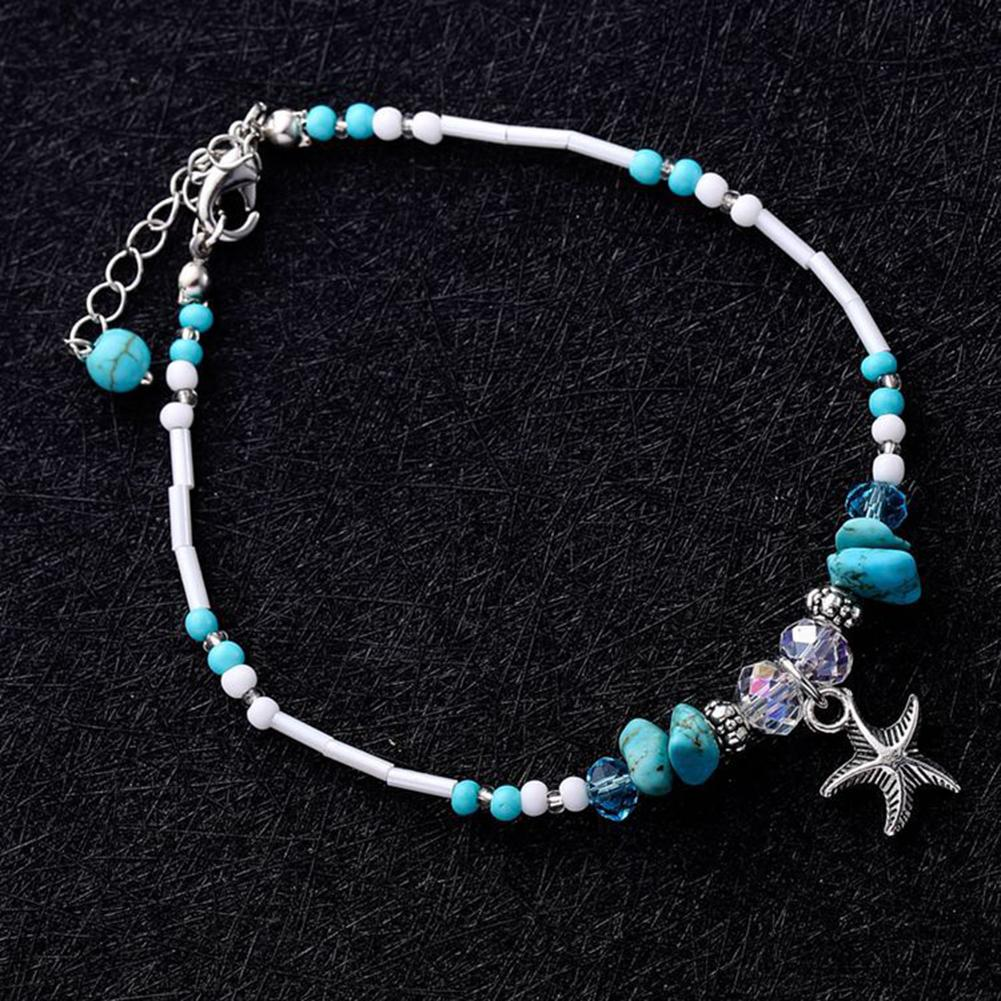 1Pc Boho Flat Round Turquoise Beads Women Necklace Wedding Party Jewelry