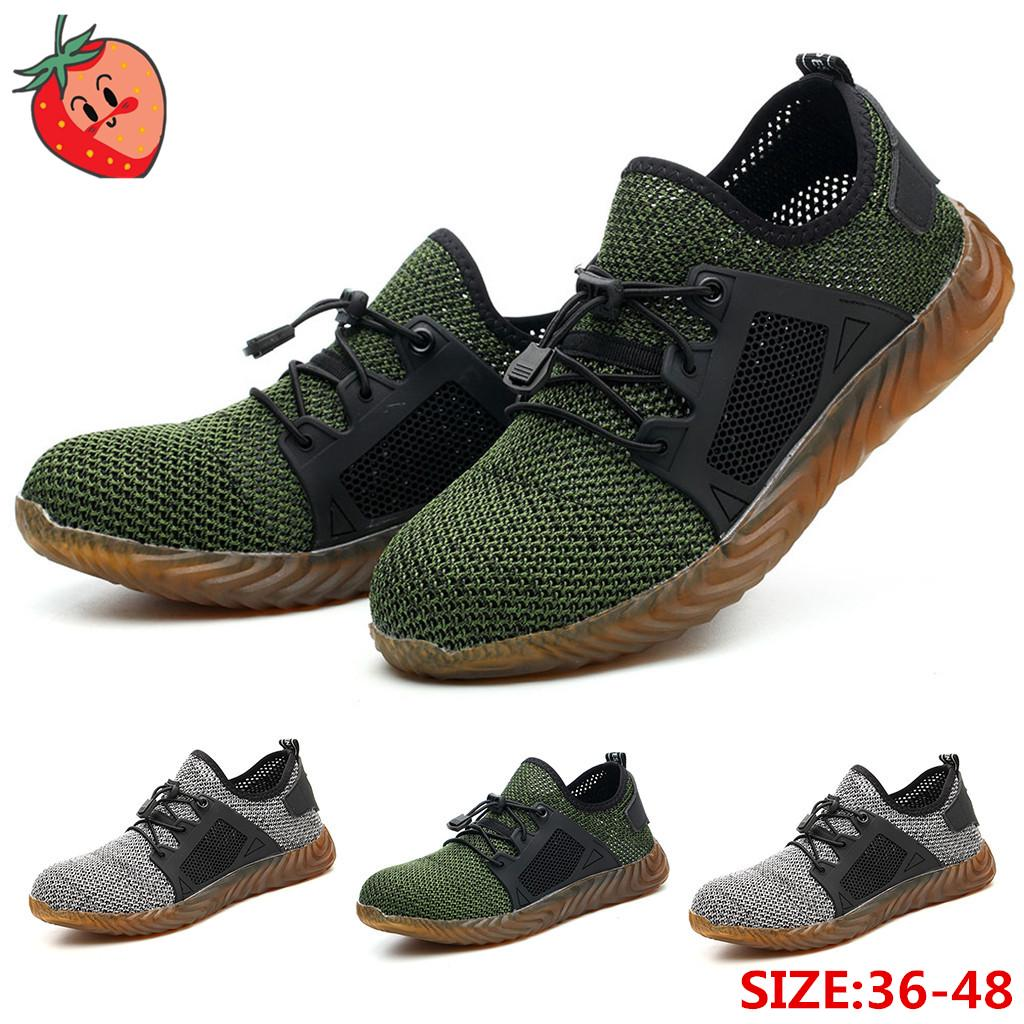Steel Toe Safety Boots Cap Work Shoes Hiking Trainers Breathable US 8.5 EU41