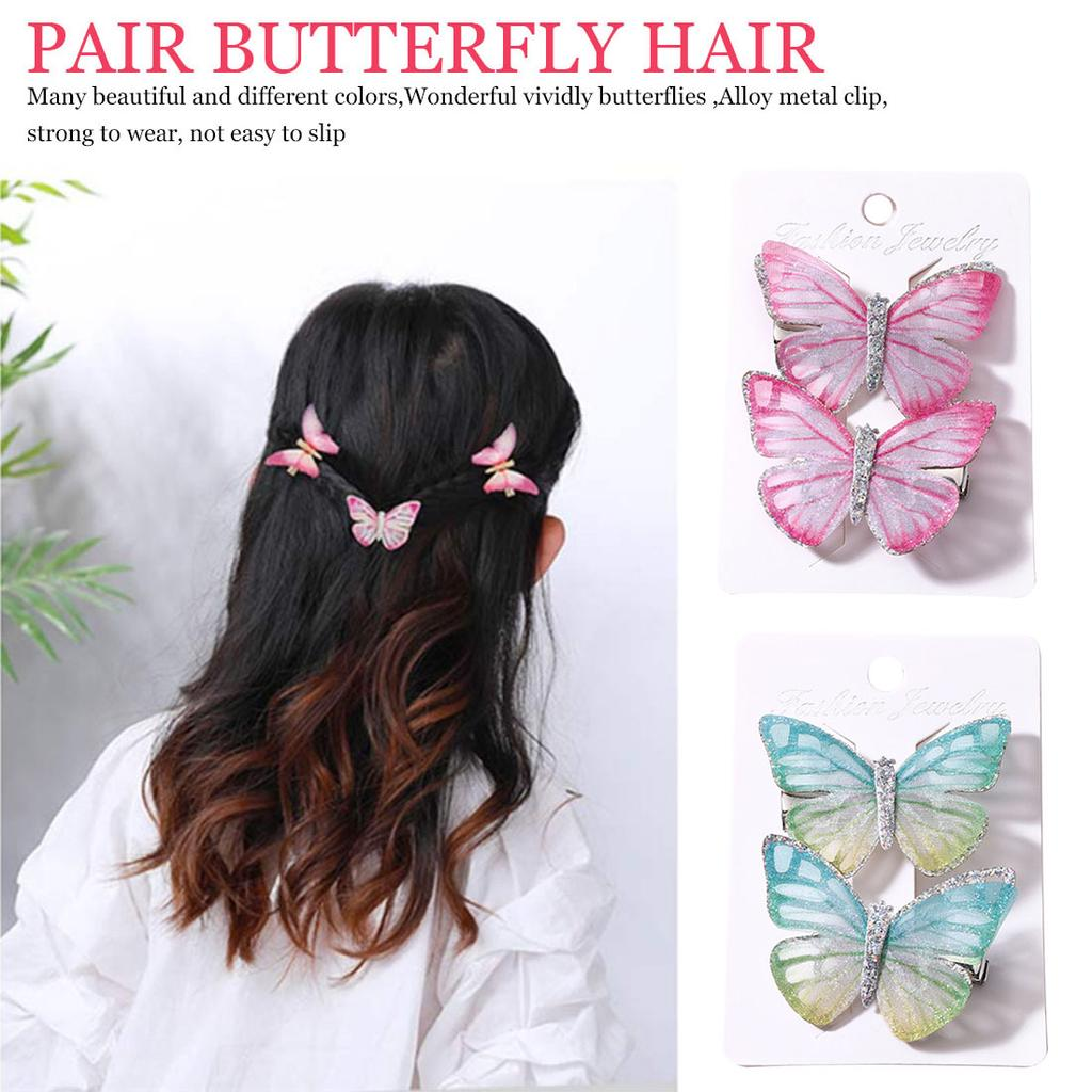 20PCS 8CM Butterfly Shaped Boutique With Fish Scale For Headbands NO CLIPS