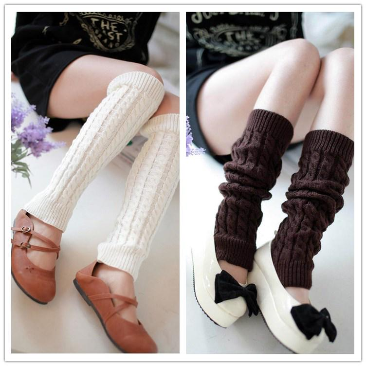 9 color invierno punto pata botas chicas mujeres muslo alto pata ...