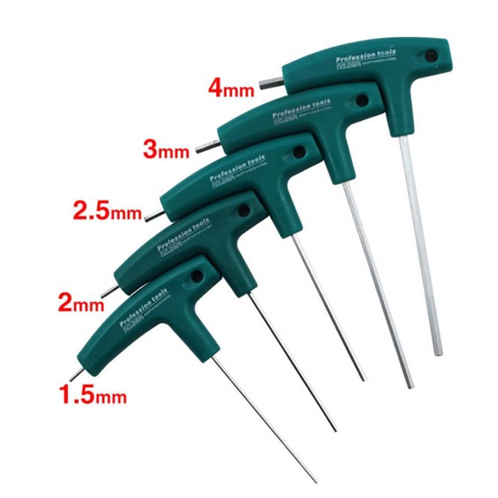 T-Handle Hex Allen Key Screws Screwdriver Driver Tools 1.5mm-10mm Wrenches Set