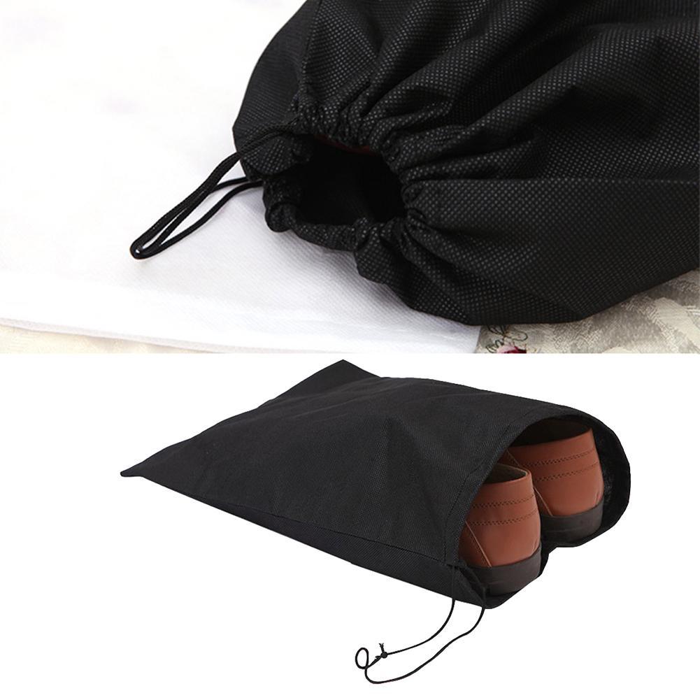 10Pcs Dust Proof Non-woven Fabric Shoe Holder Drawstring Travel Shoe Storage Bag
