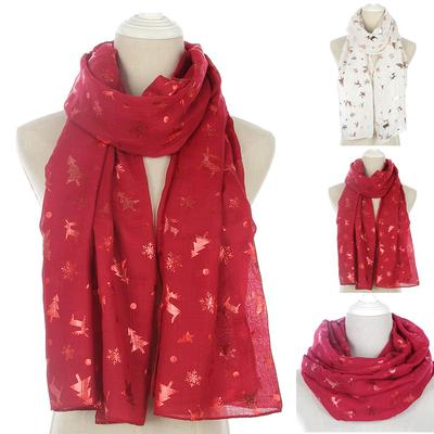 Fashion Women Ladies Scarf Floral Infinity Wrap Silk Shawl Travel Scarves