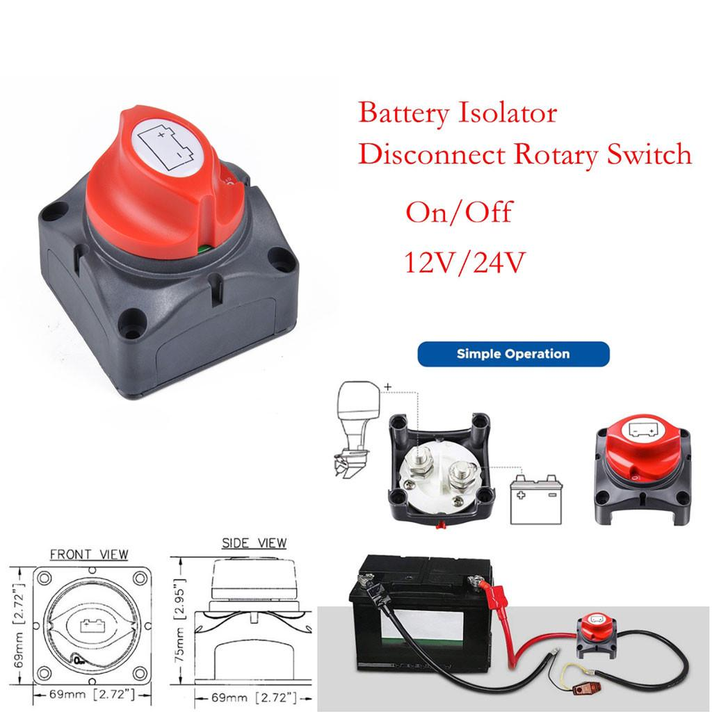 100Amp 60V DC Universal Car Battery Master Disconnect Isolator Switch 2 Terimals
