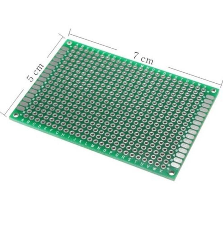 Double Side 7 x 10 CM PCB Strip board Printed Circuit Prototype Track LW