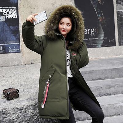 d33983ce3dc Меховой воротник капюшоном зимы вниз пальто куртки снег мягкий хлопок  длинные толстые теплой ватный Parkas