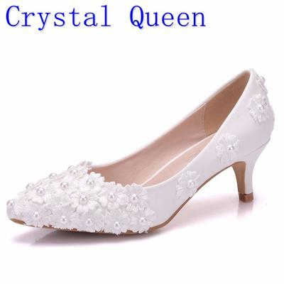 Queen White Beading Flowers High Heels Wedding Shoes 5Cm Heels Bridal Pumps  Shoes Women Shoes. -52%. 4.3Price  33 Price  69. Shoes Pointed Toe ... 51e25d643656