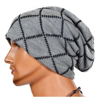 a509381dbefeb Unisex Women Men Knit Cap Winter Warm Ski Crochet Slouch Hat Oversized  BeanieColors Gray