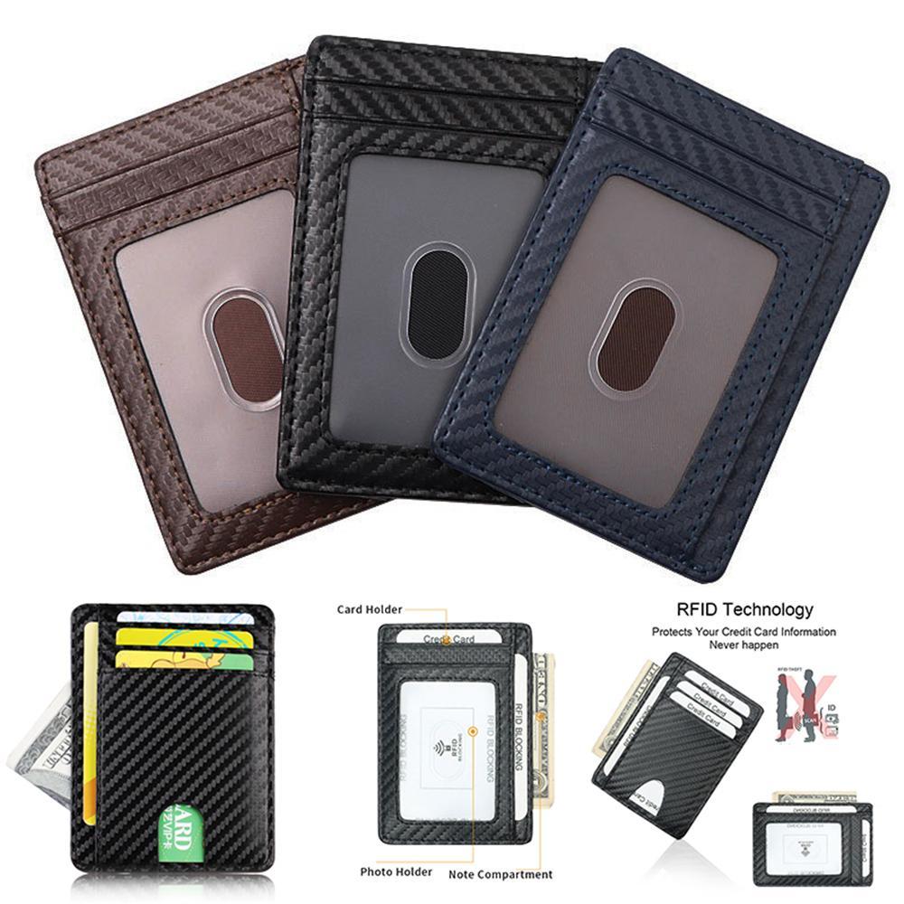 Credit Card Holder  Carbon Fibre Money Wallet Clip Slim Business ID Case Pouch