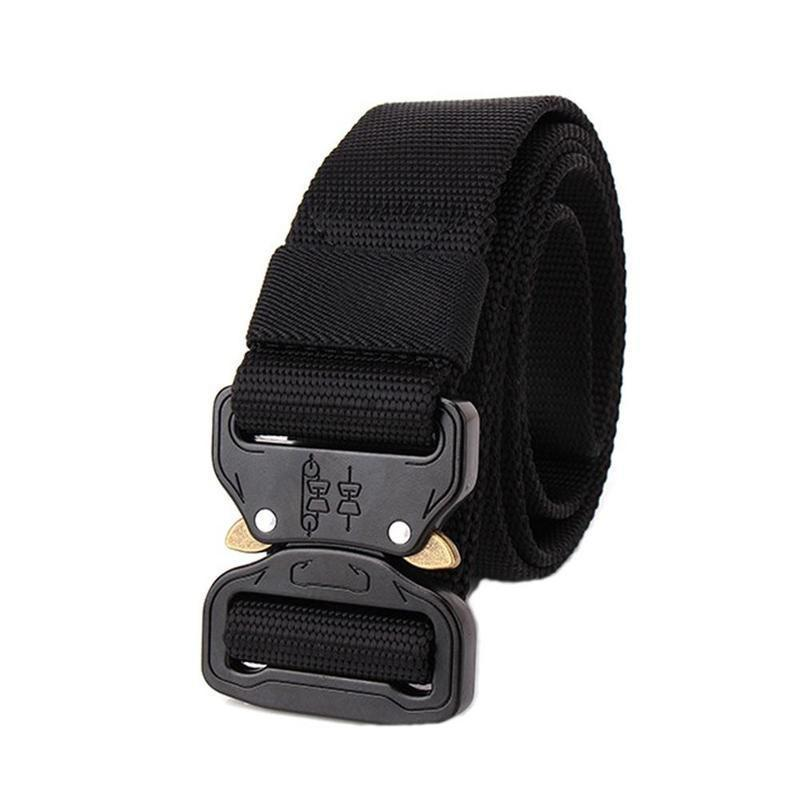 Swat 1000d Thicken Nylon Military Equipment Tactical Rigger Belt Metal Buckle Knock Off Army Military Waistband Belt Width 3.8cm Apparel Accessories
