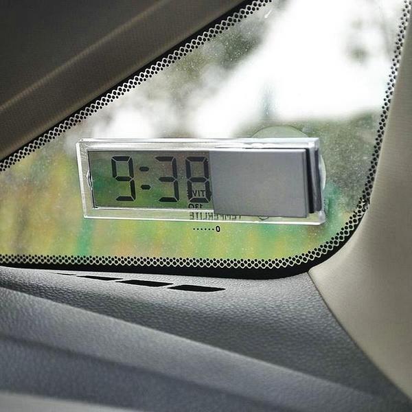车载电子表 汽车用品批发 车载电子时钟 吸盘式电子钟