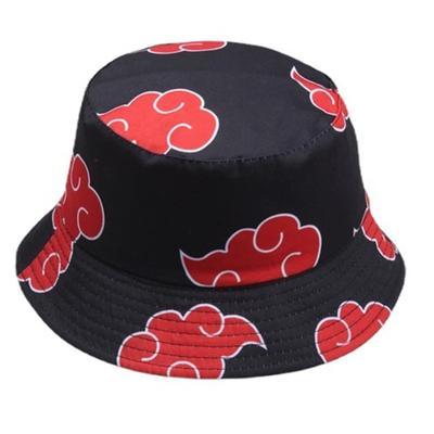 Summer Outdoor Fisherman Cap Red Printed Auspicious Clouds Dawn Cotton Panama Hats Sun Protection Casual Street Men Women Bucket Hat Flat Caps