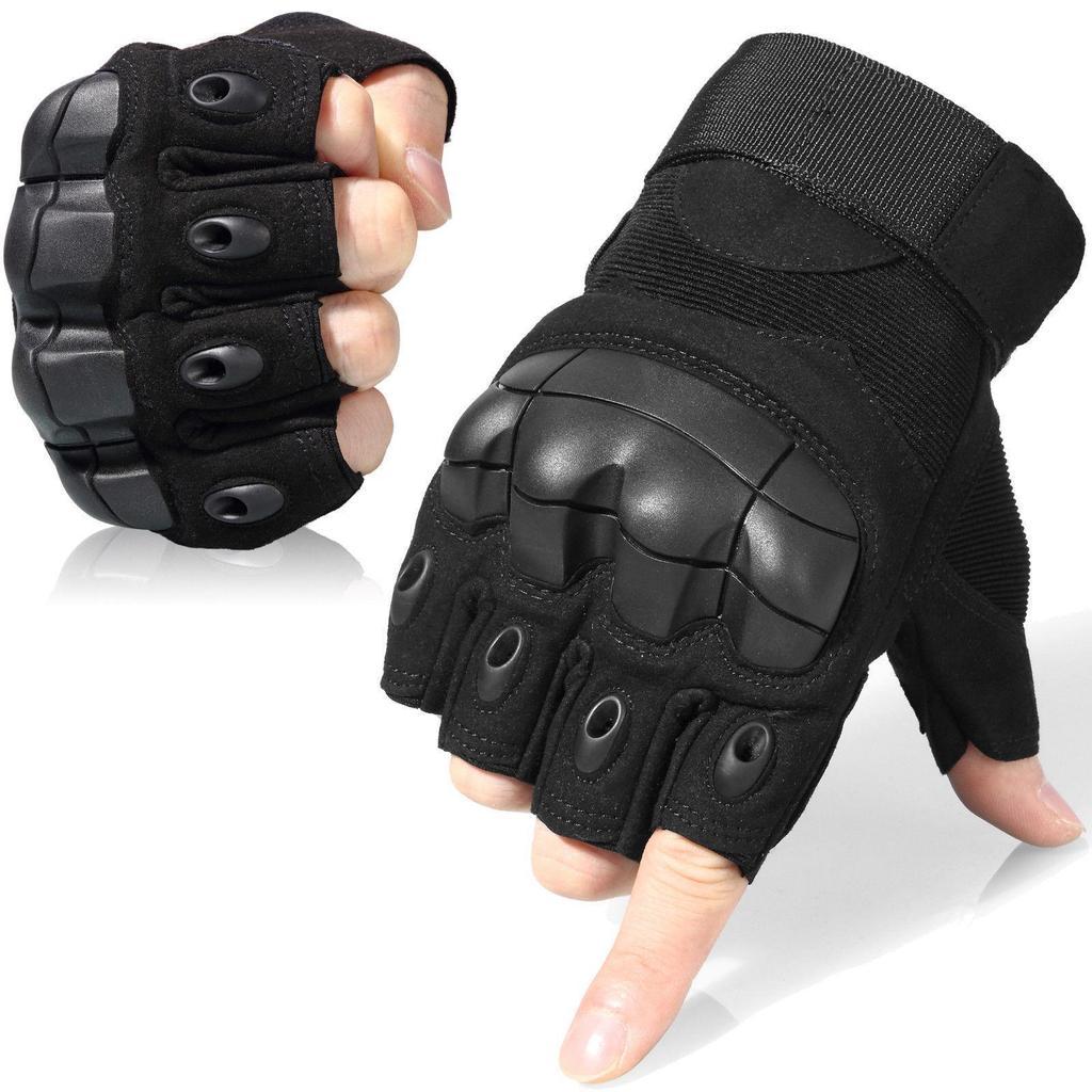 Tactical Gloves Military Fighting Combat Slip-resistant Black Half Finger Gloves