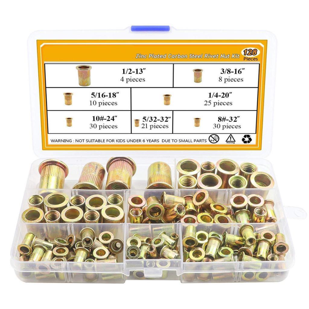 Practical 1//4-20 Aluminum Large Flange Nut Rivet Nutsert Rivet Nuts 25pcs