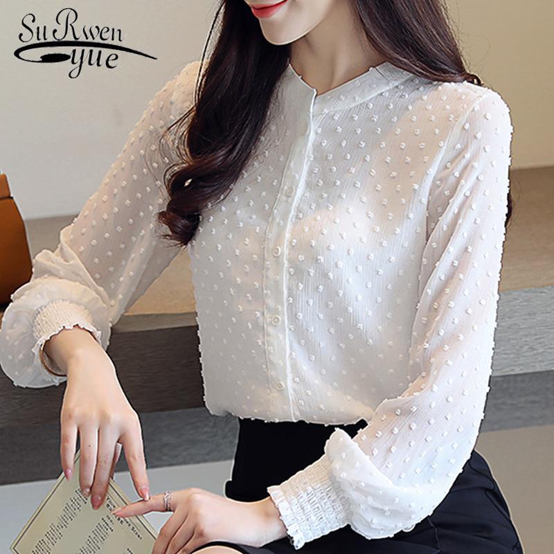 Женская деловая блуза SURWENYUE с длинными рукавами фото