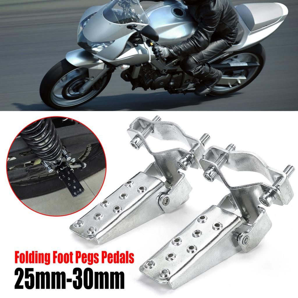 8mm Hole Universal Motorcycle Passenger Rear Foot Pegs Pedal Metal for Harley US