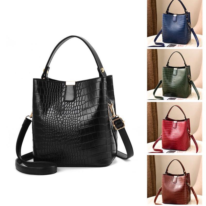Yogodlns женщины крокодил шаблон ведро сумочка плечо Посланник сумки дамы PU кошелек – купить по низким ценам в интернет-магазине Joom