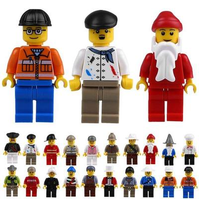 20Pcs/Lot Random Mini Figures People Models Professional Role Toy For Show Game