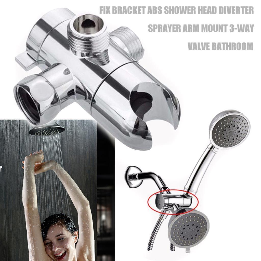 Picture of: Pdto Fix Bracket Abs Bathroom Shower Head Diverter Sprayer Arm Mount 3 Way Valve Buy At A Low Prices On Joom E Commerce Platform