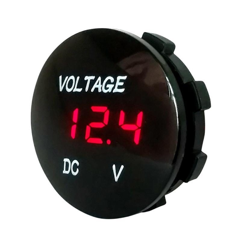 5-48V car marine motorcycle led digital voltmeter voltage meter battery gauge WN