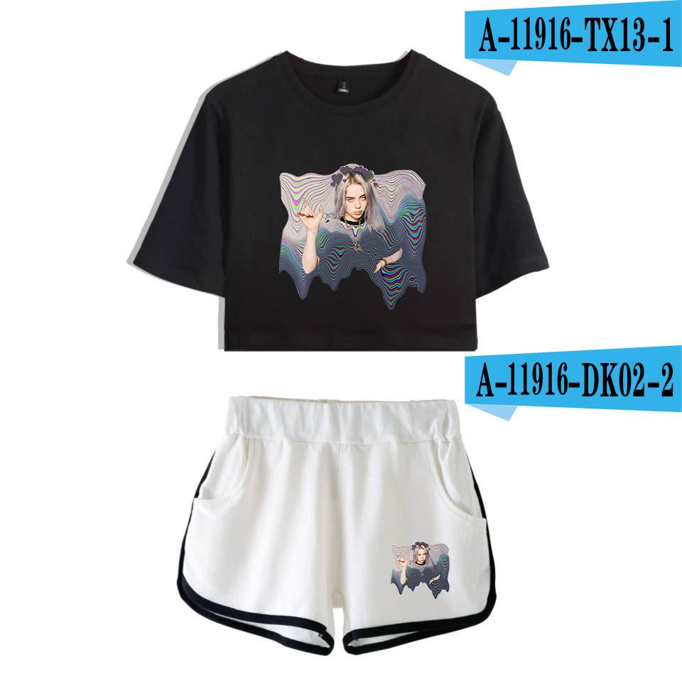 New Billie Eilish T Shirt And Short Pants Women S Sets Hot Sale T Shirt And Shorts Two Piece Suit Buy At A Low Prices On Joom E Commerce Platform